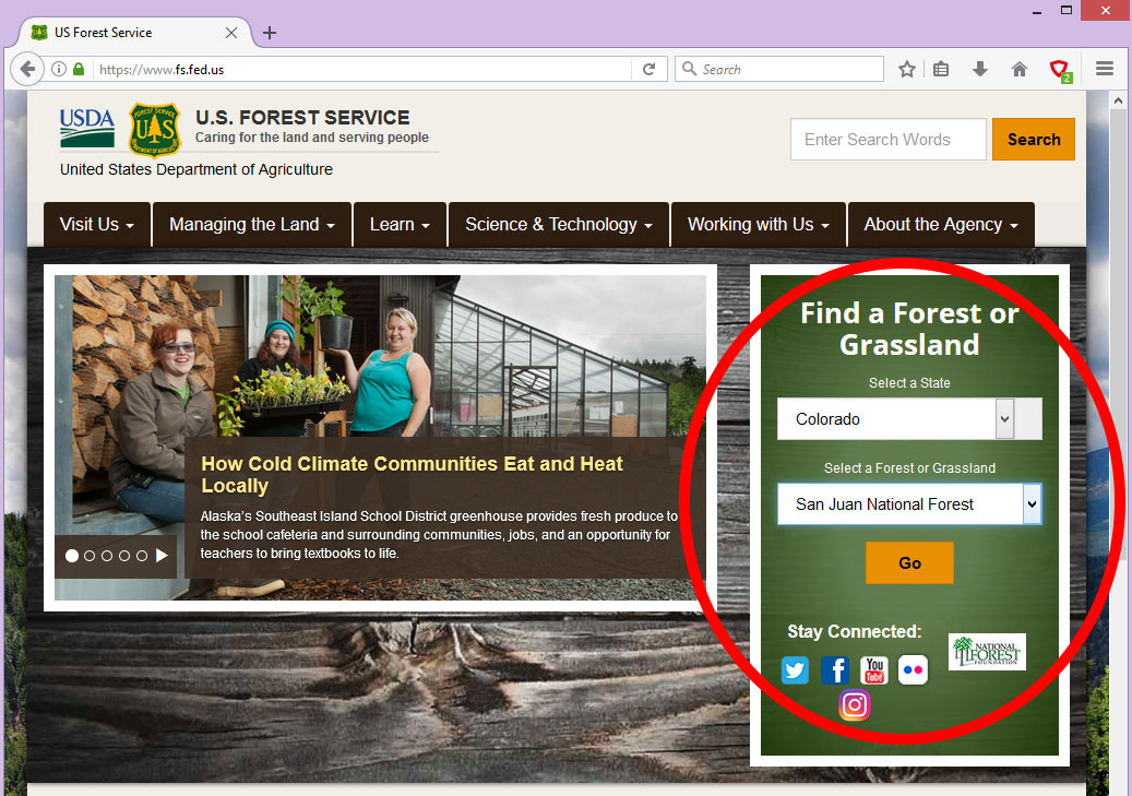 Forest Service Portal
