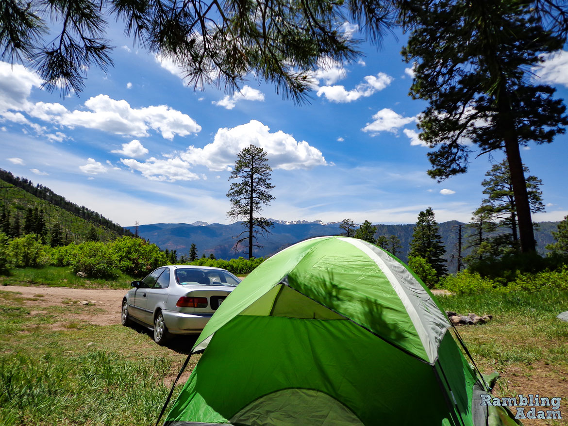 Colorado Dispersed Campsite